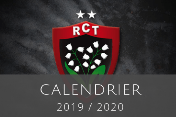 Calendrier 2020 Rugby.Calendrier Top 14 2019 20 Du Rugby Club Toulonnais